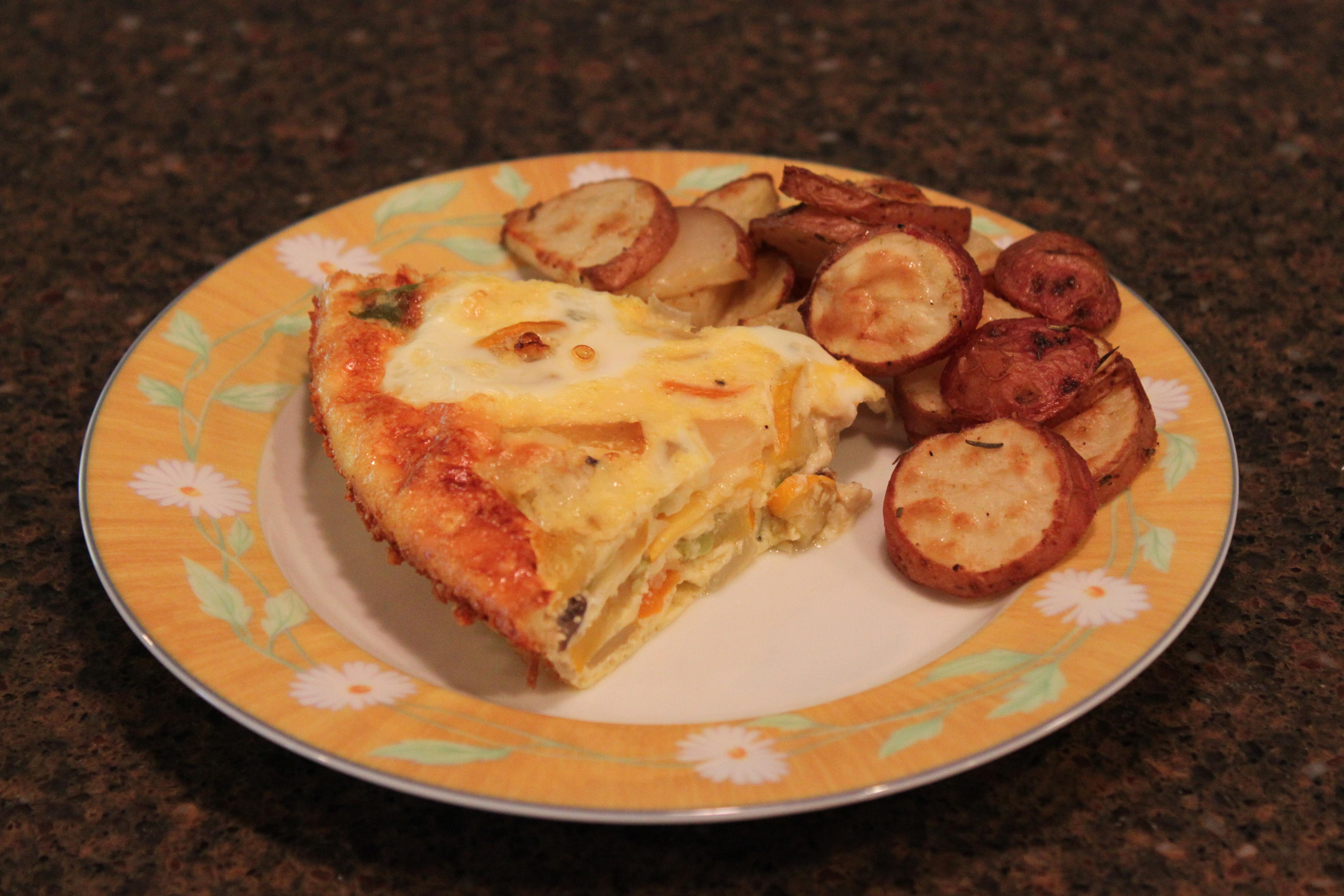 Zucchini, Sweet Onion, and Bell Pepper Frittata | Duke's House